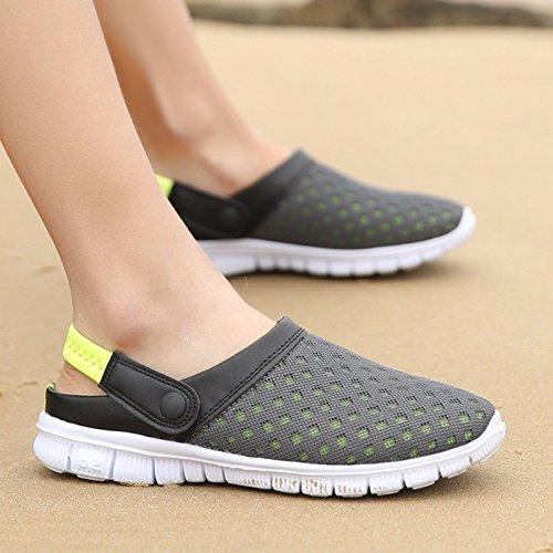 estate Nuovo prodotto Uomini Spiaggia Buco scarpa Coppia sandali Taglia larga Tempo libero sandali Coppia tendenza sandali Uomini ,giallo,US=8,UK=7.5,EU=41 1/3,CN=42