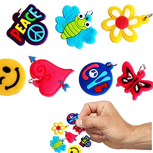Toy Cubby Lovely Rubberband Bracelet Charms - 30 Pieces]()