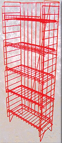 5 Shelf Potato Chip Popcorn Snack Food Floor Display Red Rack by popcorn snack food