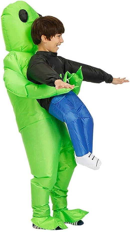 Delisouls Alien Inflable Disfraz, Verde Alien de Transporte Humano ...
