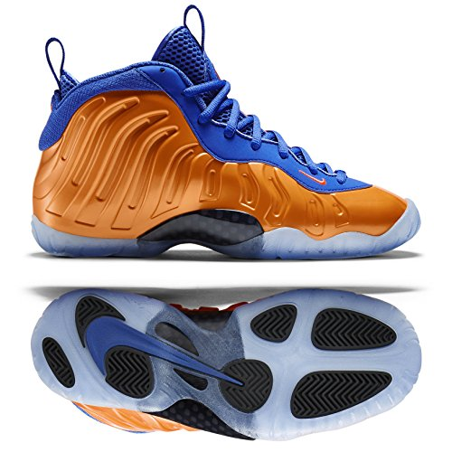 Nike Little Posite One (GS) Boys Basketball Shoes 644791-800 Orange 6 M