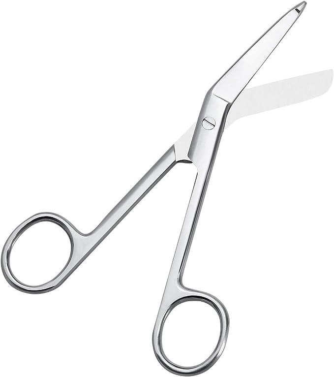 argento Forbici per bendaggio con clip 11,4 cm
