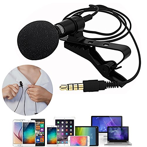 Sinotech Grade Lavalier Lapel Microphone, Omnidirectional Mic with Easy Clip On System for Android & Windows Smartphones,YouTube,Studio,Video Recording,Noise Cancelling Mic
