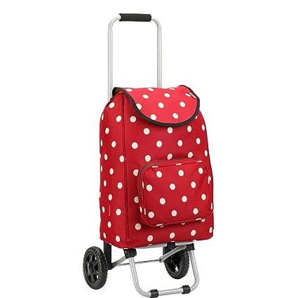 Carro de la compra del lavadero de la tienda de comestibles plegable con 2 ruedas Marco