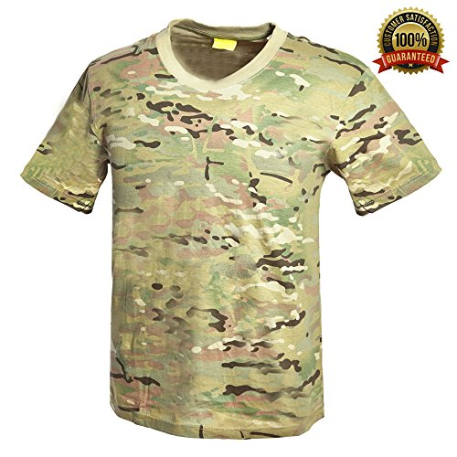 - Sharktical Army Camo Camouflage Military T Shirts in Mens Sizes: XS-XXL