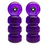 Ventro Pro Quad Skates Wheel Kit Turbo 62 (bearings inlcuded) Purple