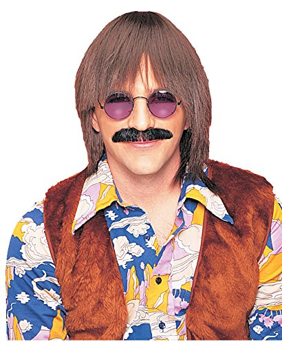 Costume Culture Men's Silly Boy Wig Deluxe, Brown, One Size]()