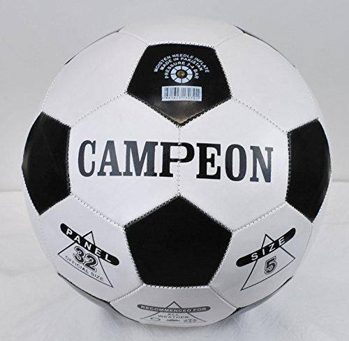 Campeon White & Black Soccer Ball Football Size-5 Panel 32
