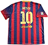 Lionel Messi Signed Autographed Barcelona Nike Authentic Blue & Red Jersey PSA/DNA COA