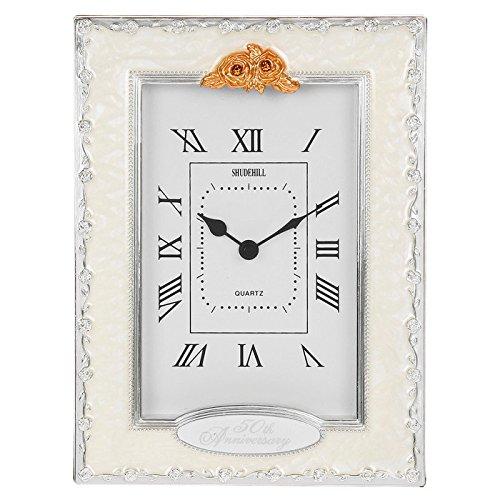 50th Anniversary Clocks - Clocks - 50th Anniversary Golden Wedding Celebration Quartz Table Clock