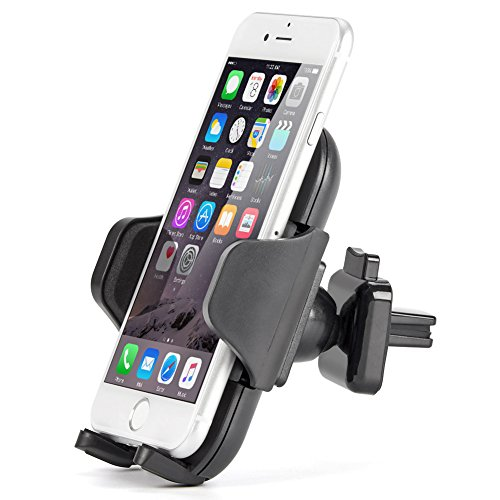 Lite Dual Vent (iKross Lock Clip Air Vent Mount, Universal Air Vent Vehicle Mount Cradle Holder for Smartphone 4-6