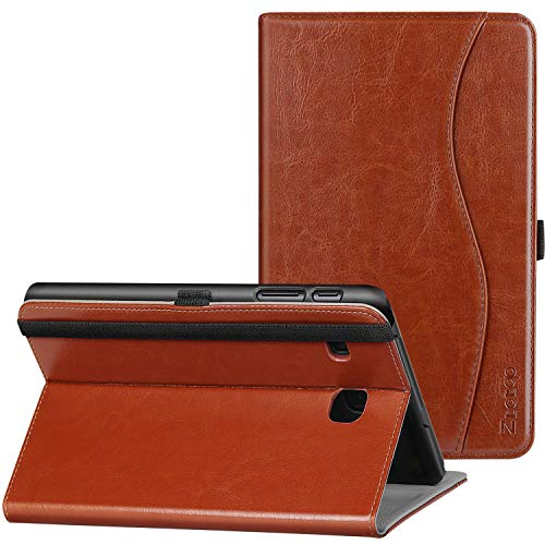 Ztotop Case for Samsung Galaxy Tab E 8.0 2016 Release, Folio Stand Premium Leather Tablet Cover for SM-T375/ SM-T377/ SM-T378, Pencil Holder and Multiple Viewing Angles, Brown