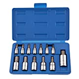 Neiko 10075A Hex Bit Socket Set, S2 Steel | 13-Piece Set | SAE
