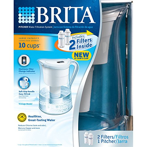 Brita Water Filtration System Kit: 1 Pitcher (Large Capacity) Plus 2 Fliters (Brita Water Pitcher Fliter compare prices)