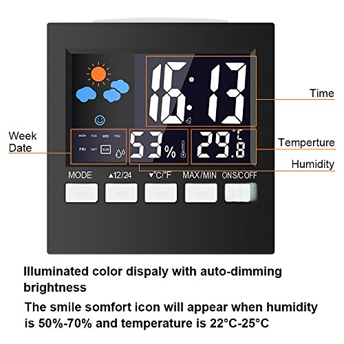 samshow-indoor-digital-thermometer-weather-channel-thermometer-temperature-and-humidity-monitor-with-alarm-clock-time-date-and-large-night-lighting-lcd-screen-displayingbattery-included