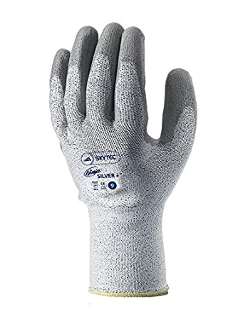 Skytec guantes sky29-l Ninja plata + corte 5 PU Palm guantes ...