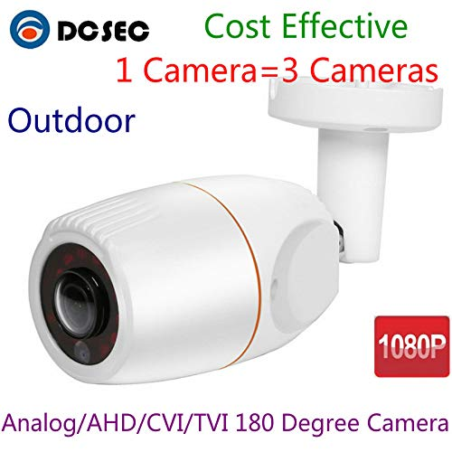 2MP 1080P 180° Degree Wide Angle Fish Eye HD Analog AHD TVI CVI Mini Bullet CCTV Security Camera Outdoor Water-Proof IR Night Vision for Home (Best Price Composite Front Doors)