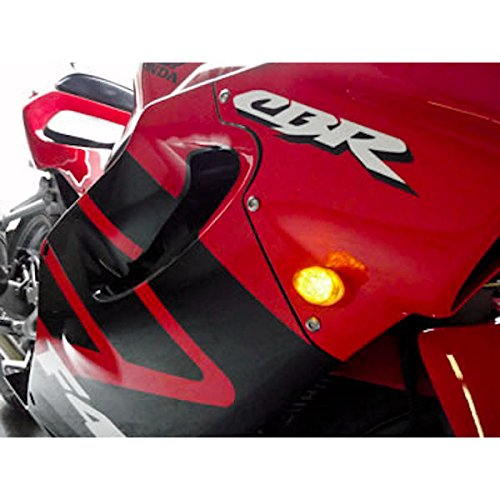, Motorcycle 2002-2008 Yamaha LED Flushmount Clear Flush Mount Indicators Signals Fits R1 R6S FZ1 FZ6 Krator TL-GJ-011-C Turn