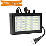 DJ Lights, SOLMORE 180 LED Strobe Light for Parties Disco Party Lights Auto Sound Activated Adjustable Flash Speed Control Stage Lighting for Wedding KTV Pub Club Show AC90-240V 35W