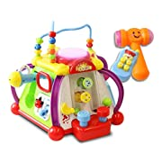 ToyThrill 15 Game Baby Activity Play Center – Happy Small World Fun Child Development Toy with Sounds, Lights, Music and More - by