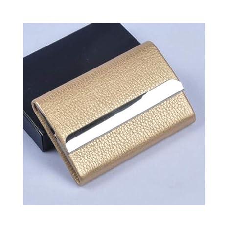 YXHUI Caja de cigarrillos, chapa de acero inoxidable ...
