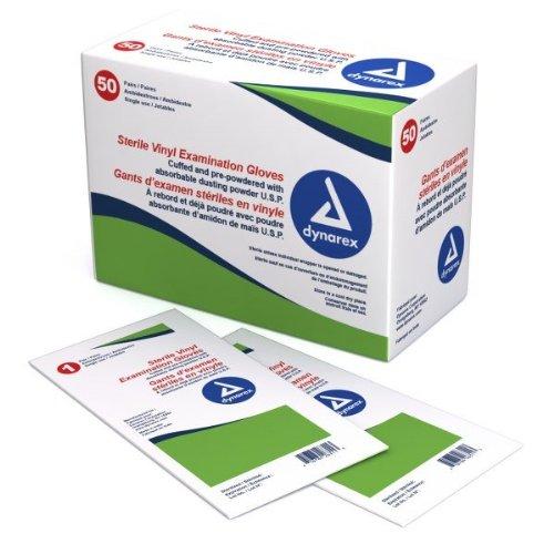 Sterile Vinyl Exam Gloves (Pairs) - Medium - 50/Box