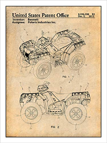 laris ATV All Terrain Vehicle Patent Print Art Poster UNFRAMED Parchment 18