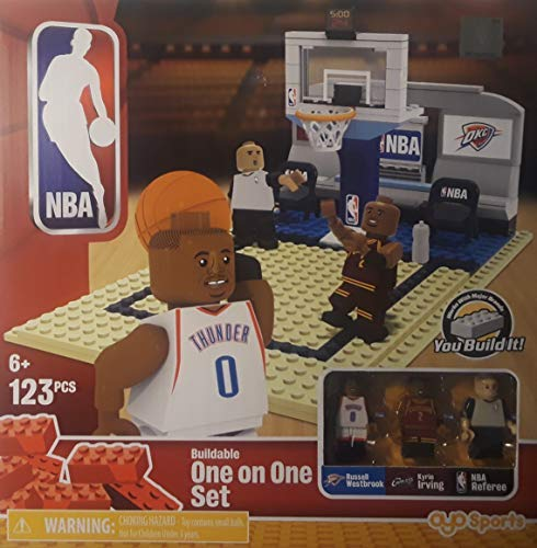 OYO Sports NBA Buildable Playmaker Building Set - Russel Westbrook, Kyrie Irving-Bridge Direct
