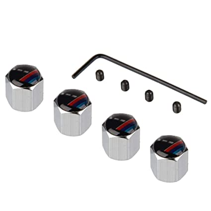 ATpart 4 Tapones de válvula antirrobo para neumáticos de Coche, de aleación de Aluminio,