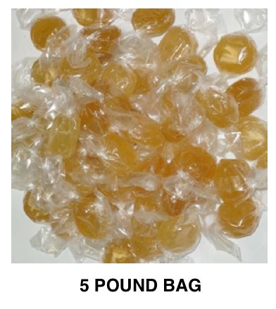 Hillside Sweets HONEY Hard Candy 5 pound Bag, SUGAR CANDY by Hillside Sweets