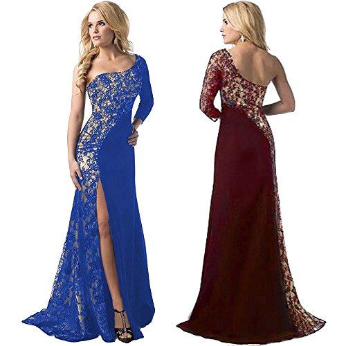 Off Estate Lunghi Vestiti Spalla Homebaby® Vintage Abito Donna Eleganti Abiti Rosso Formale Cerimonia Maxi Estivi Vestito Casual dFA7q
