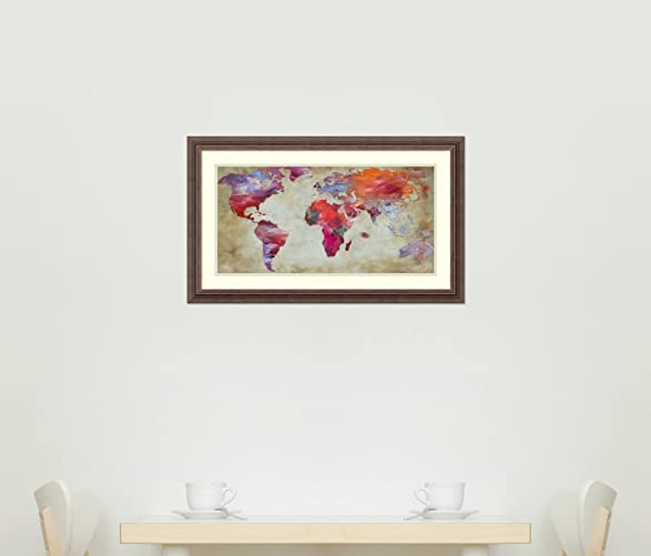 Amazon framed art print world in colors map by joannoo amazon framed art print world in colors map by joannoo posters prints sciox Images