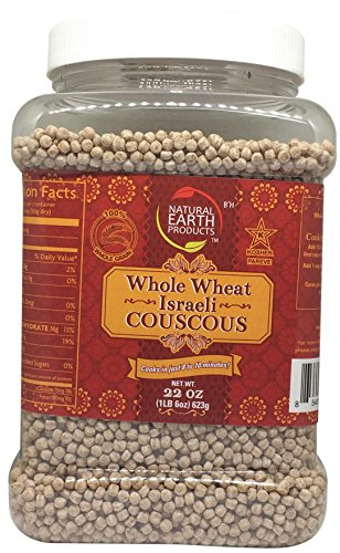 Natural Earth Whole Wheat Israeli Couscous - Certified Kosher - 100% Whole Grain - 22 Oz by Natural Earth