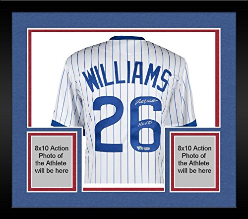 - Framed Billy Williams Chicago Cubs Autographed Majestic Cooperstown Collection White Replica Jersey with