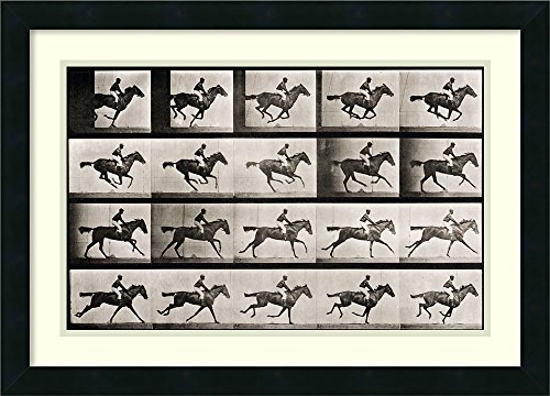 Framed Wall Art Print | Home Wall Decor Art Prints | Jockey on a Galloping Horse, Plate 627 from 'Animal Locomotion', 1887 by Eadweard Muybridge | Modern Decor