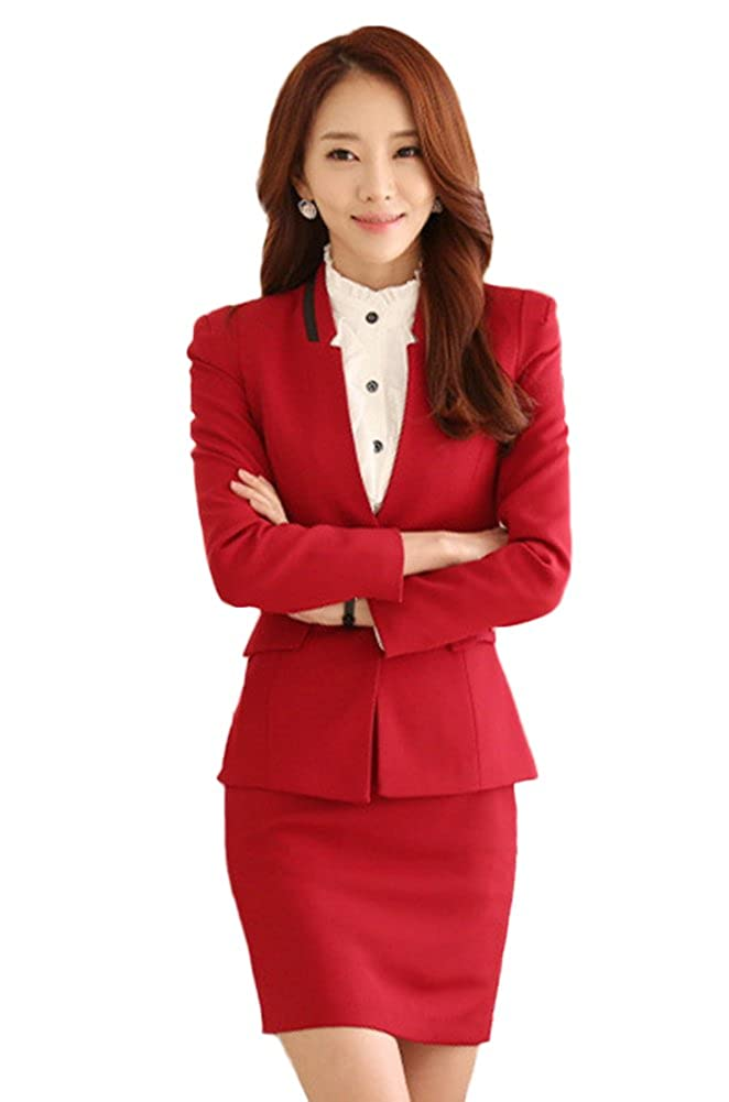 CHICKLE Women's 2 Piece Formal Wear Bodycon Business Suit Set ZLZW-0023-2-L