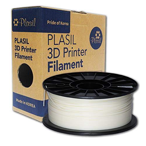 Plasil Korea 3D Printer Filament Natural Ivory ABS Material 1.75MM 1KG/2.2LB (Wispy Leaf)