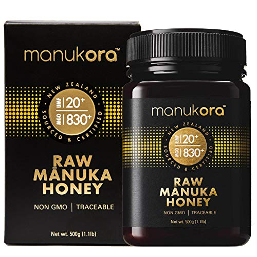 Manukora UMF 20+/MGO 830+ Raw Mānuka Honey (500g/1.1lb) Authentic Non-GMO New Zealand Honey, UMF & MGO Certified, Traceable from Hive to Hand by Manukora (Image #1)