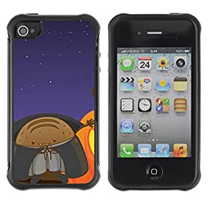 ZAAAZ Rugged Armor Slim Protection Case Cover Durable Shell - Lol Funny Space Monster - Apple Iphone 4 / 4S