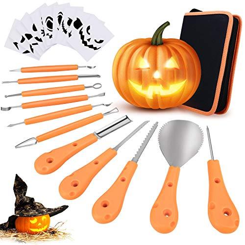 Halloween Pumpkin Cut Out Stencils - Philonext Halloween Pumpkin Carving Set,Pumpkin Cutting