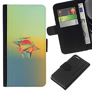 YiPhone /// Tirón de la caja Cartera de cuero con ranuras para tarjetas - Diseño abstracto - Apple Iphone 5C