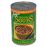 Amy's Organic Lentil Vegetable Soup, 14.5-ounce Cans [Pack of 6]