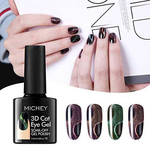 MIYOUNE Gel Nail Polish UV LED Gel Nail Varnish,Gel Nail Polish Kit,7.5ml (3D cat eye)