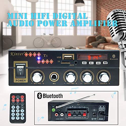 ACHICOO Digital Car Amplifier Kinter T1 blueteeth Player 2x 25W DC12V 220V Karaoke Input (Best Sound Karaoke On Demand)