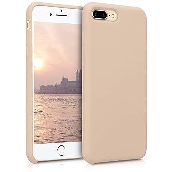kwmobile Funda para Apple iPhone 7 Plus / 8 Plus - Carcasa de [TPU] para teléfono móvil - Cover [Trasero] en [nácar]