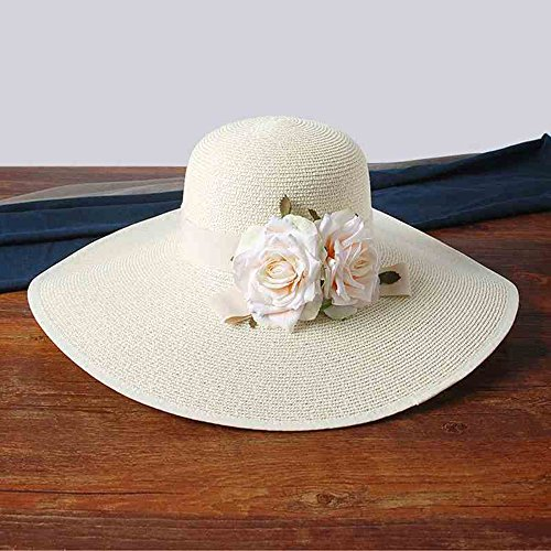Cappello Ynn Estivo colore Spiaggia Da Bianca Donna Pieghevole Giallo AApdr1xqw