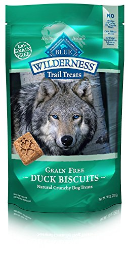 - Blue Buffalo Wilderness Trail Treats Grain Free Crunchy Dog Treats Biscuits, Duck Recipe 10-oz bag