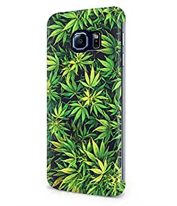 Weed Mary Jane Leaves Plastic Snap-On Case Cover Shell For Samsung Galaxy S6 EDGE