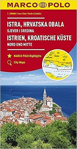 Marco Polo Istrie Kroatische Kust Noord En Midden Wegenkaart 1