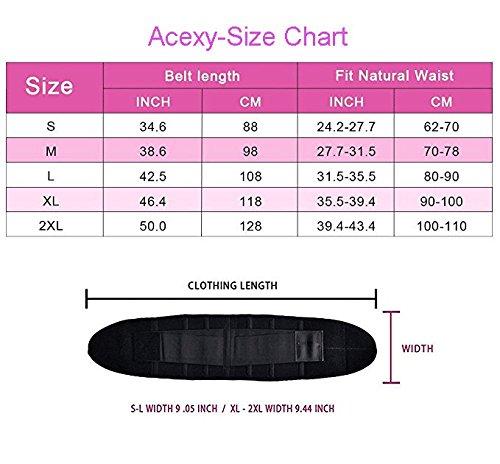 Shaper per schiena vita Cintura clessidra Cintura Elastico Acexy cintura Body addominale Nero cinture per corta Cintura la regolabile a Supporto per xq1Aaz